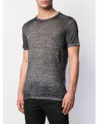 メンズ Avant Toi アップリケ Tシャツ Gray