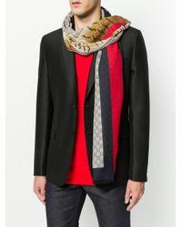 Écharpe GG Supreme imprimée Gucci pour homme en coloris Multicolor