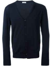 Fashion Clinic Timeless Blue V-neck Cardigan for men
