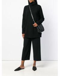 Daniela Gregis Black Roll Neck Sweater