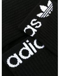 Adidas ロゴ 靴下 Black