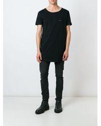 メンズ DIESEL スクープネックtシャツ Black