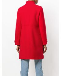 Courreges - Red Button-down Fitted Coat - Lyst