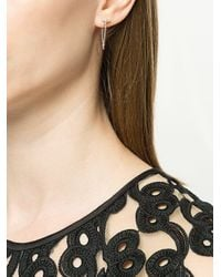 Karen Walker Vermeer Pearl Earrings Metallic
