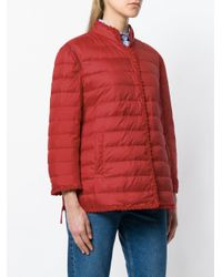 Ermanno Scervino Red Button Padded Jacket