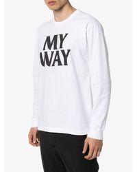 T-shirt My Way con stampa di Neighborhood in White da Uomo