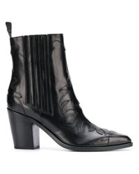 Sartore Black Ankle Boots