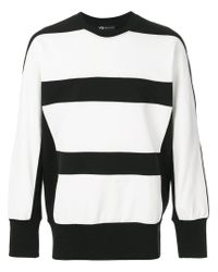 Y-3 Black Bold Striped Jumper for men