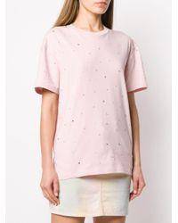 Miu Miu ビジュー Tシャツ Pink