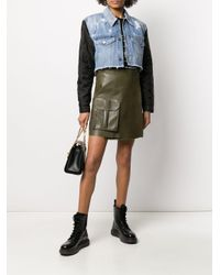 Givenchy キルティングスリーブ デニムジャケット Blue