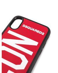 Coque d'iPhone X/XS Icon DSquared² pour homme en coloris Red