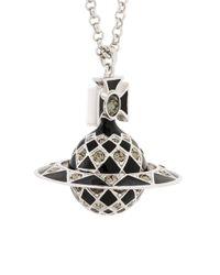 Vivienne Westwood Metallic Logo Pendant Necklace