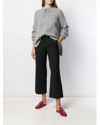 Piazza Sempione Black Cropped Tailored Trousers