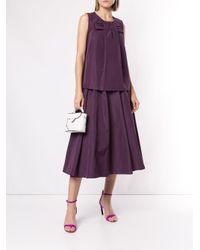 Rochas Purple Bow Front Blouse