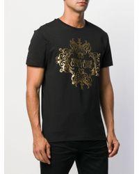 メンズ Versace Jeans バロックプリント Tシャツ Black