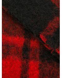 DSquared² チェック スカーフ Red