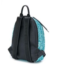 Блестящий Рюкзак С Вышивкой Chiara Ferragni, цвет: Blue