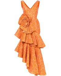 Асимметричное Платье С Рюшами 'zinnia' Bambah, цвет: Yellow