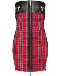 DSquared² パッチワーク ドレス Red