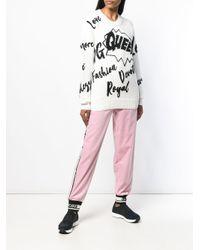 Трикотажный Джемпер С Надписями Dolce & Gabbana, цвет: Multicolor