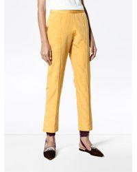 Rosie Assoulin Multicolor Cigarette Moire Blend Trousers