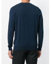 メンズ Drumohr Vネック セーター Blue