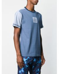Stone Island Blue Printed Logo T-shirt for men