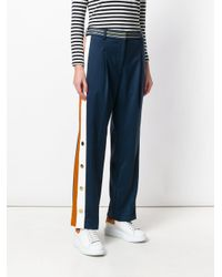Peter Pilotto Blue Cropped Tailored Trousers