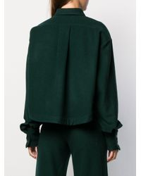 Societe Anonyme クロップドシャツ Green