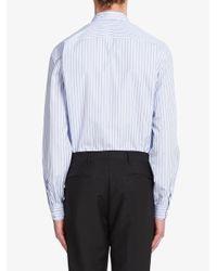 メンズ Prada ストライプ シャツ Blue