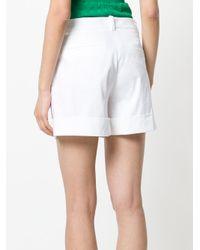 P.A.R.O.S.H. White Pleated Shorts