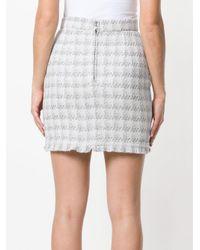 IRO White Checked Mini Skirt