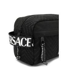 メンズ Versace Jeans ロゴ トラベルポーチ Black