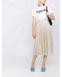 Blumarine メタリック プリーツスカート Metallic