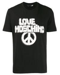 メンズ Love Moschino グラフィック Tシャツ Black