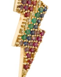 Anton Heunis - Metallic Gold And Precious Stones Lightning Bolt Earring - Lyst