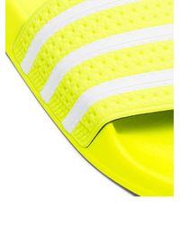 メンズ Adidas Adilette サンダル Yellow