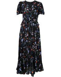 Vestido con motivo floral Markus Lupfer de color Black