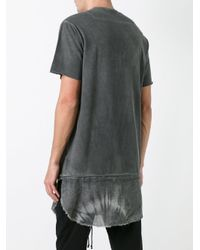 Lost and Found Rooms Gray Raw Edge T-shirt for men