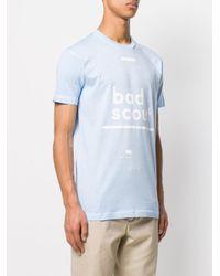 DSquared² Blue Bad Scout T-shirt for men