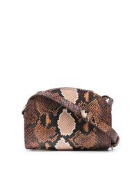 A.P.C. Brown Demi-lune Snakeskin-effect Shoulder Bag