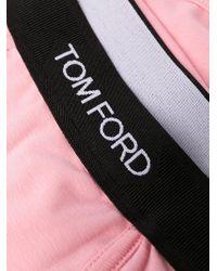 メンズ Tom Ford ロゴ ボクサーパンツ Pink