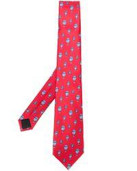 Cravate à motif graphique Lanvin pour homme en coloris Red