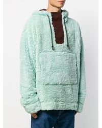 Acne Green Oversized Textured Hoodie for men