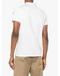 メンズ Moncler コットン ポロシャツ White