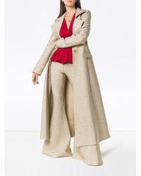 Rosie Assoulin Metallic A Line Lapel Coat