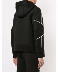 Sweat à capuche à motif géométrique Neil Barrett pour homme en coloris Black