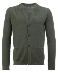 Roberto Collina - Green V-neck Cardigan for Men - Lyst