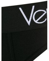 Calzoncillos con logo en la cinturilla Versace de hombre de color Black