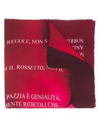 Faliero Sarti スローガン スカーフ Pink